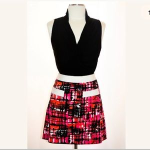 New Etcetera mini skirt size 2 Pink multicolor